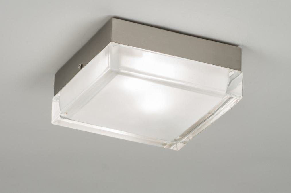 Ceiling lamp 53833: modern, retro, glass, clear glass #0