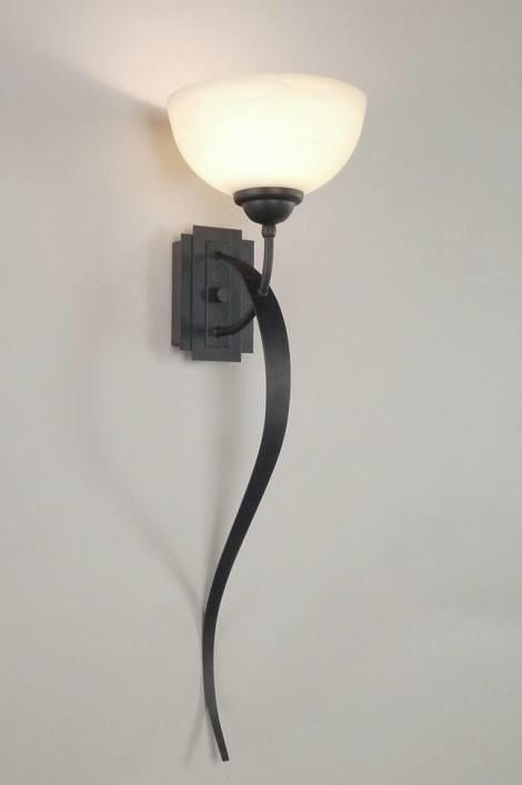 Wandlamp 55778: klassiek, landelijk, rustiek, bruin #0
