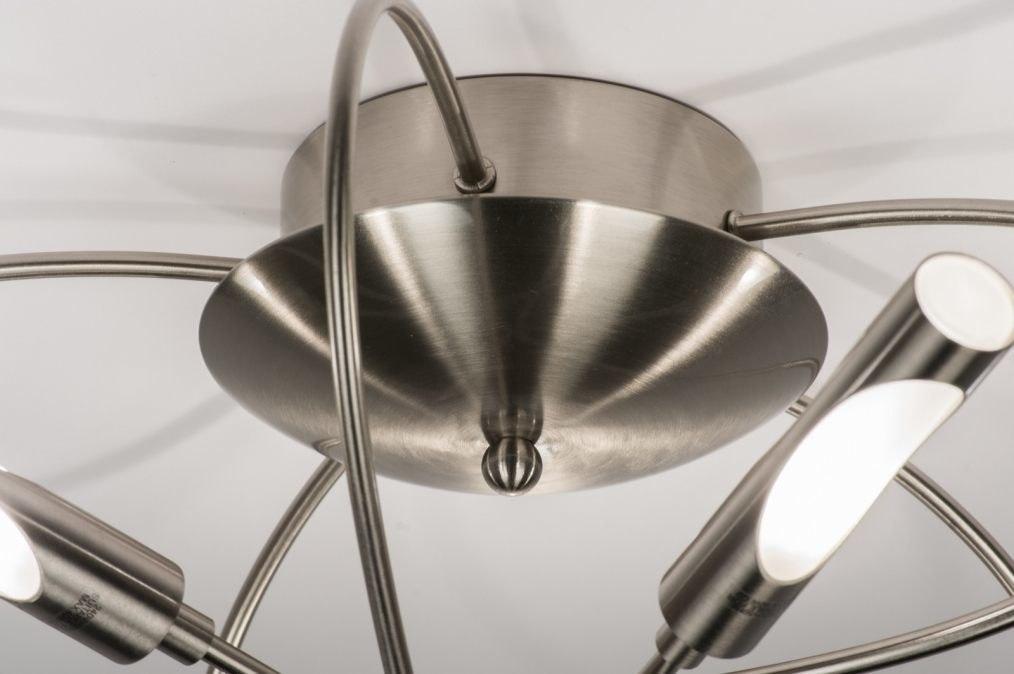 deckenleuchte 58816 modern stahlgrau metall stahl rostbestaendig. Black Bedroom Furniture Sets. Home Design Ideas