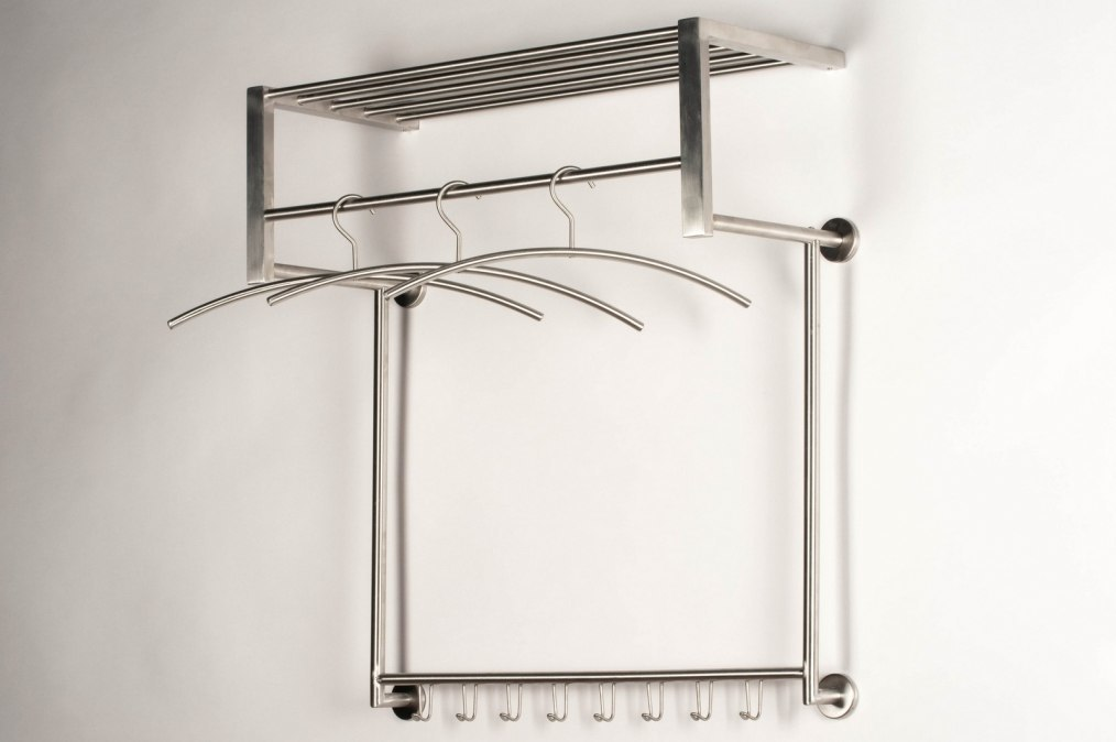 Hallstand 59979: modern, stainless steel, rectangular #0