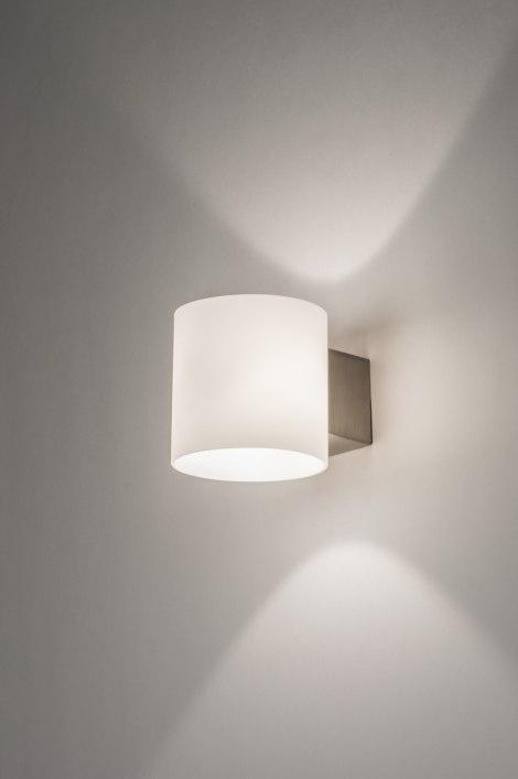 Wall Lamp 64253 Modern Glass White Opal Glass Round