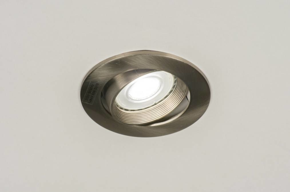 Recessed spotlight 64473: modern, stainless steel, metal, round #0