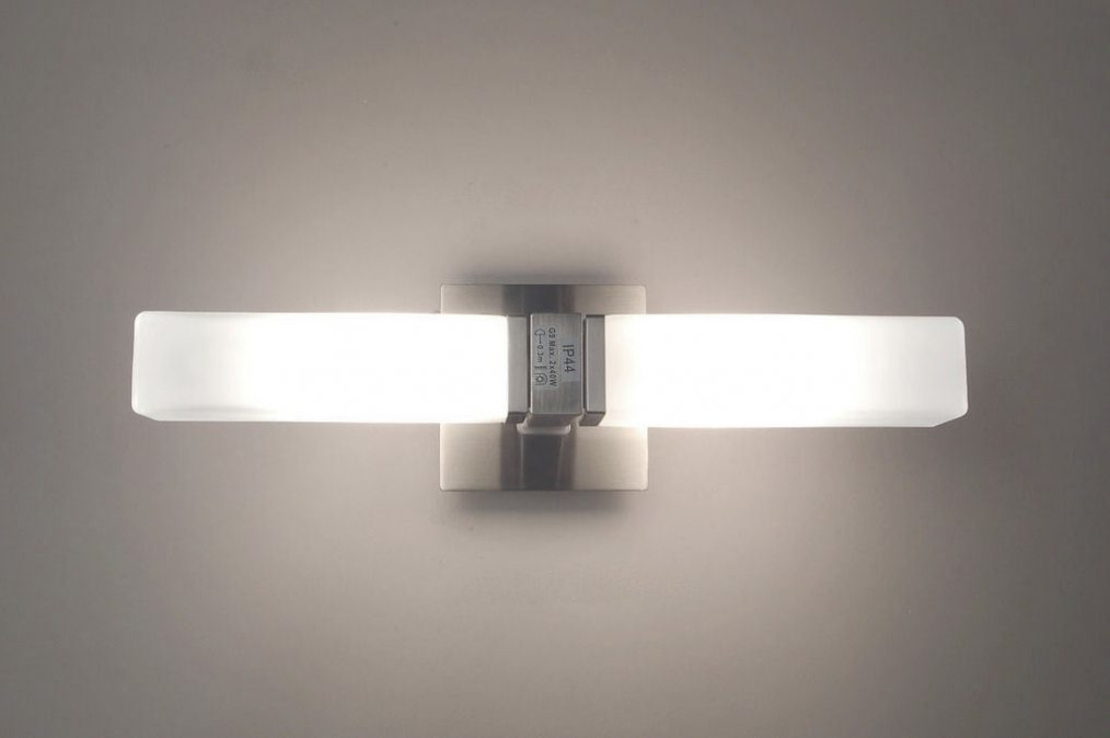 lampe de salle de bains 65411 moderne verre verre opale blanc acier. Black Bedroom Furniture Sets. Home Design Ideas