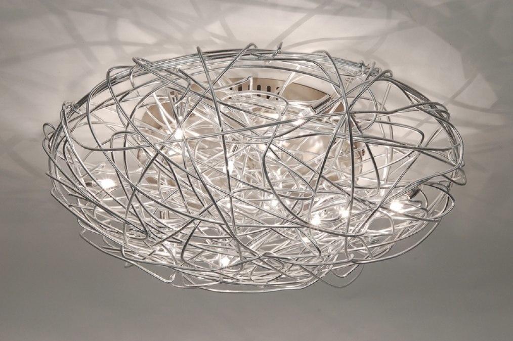 deckenleuchte 65901: modern, stahl rostbestaendig, rund, Wohnzimmer