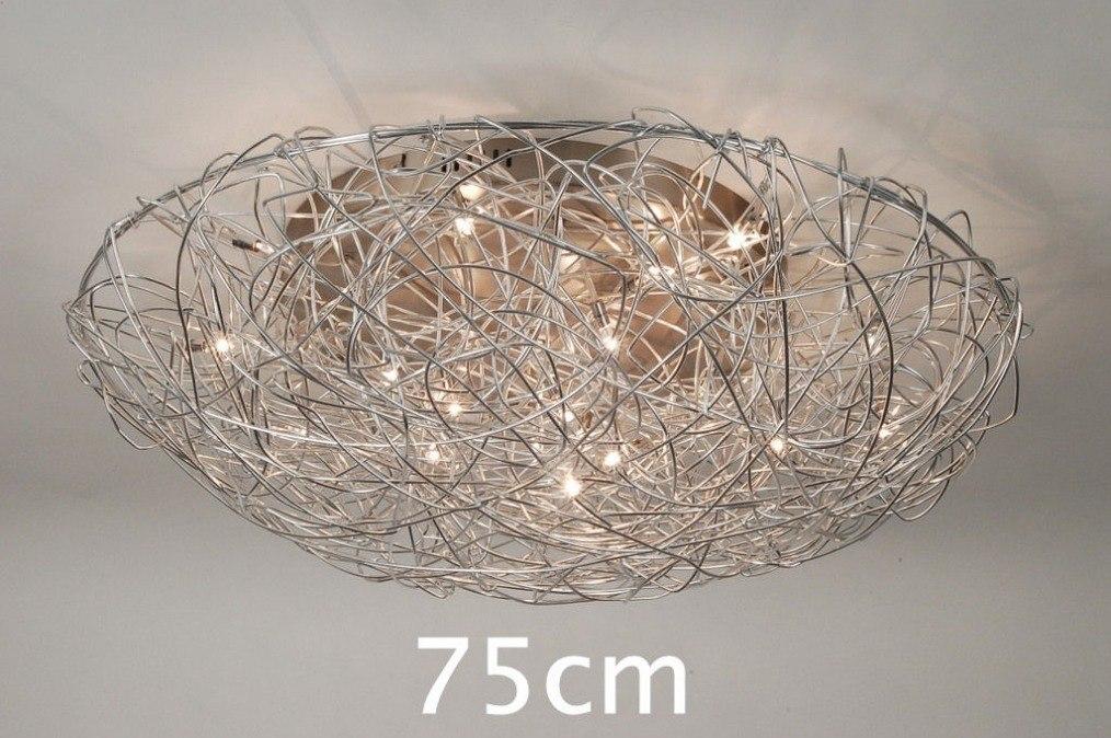 Plafondlamp 65902: sale, modern, staal rvs, rond #0