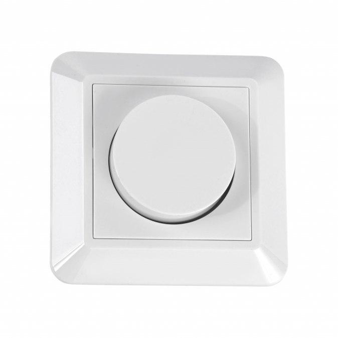 Lichtdimmer 66013: kunststof, wit, glans #0
