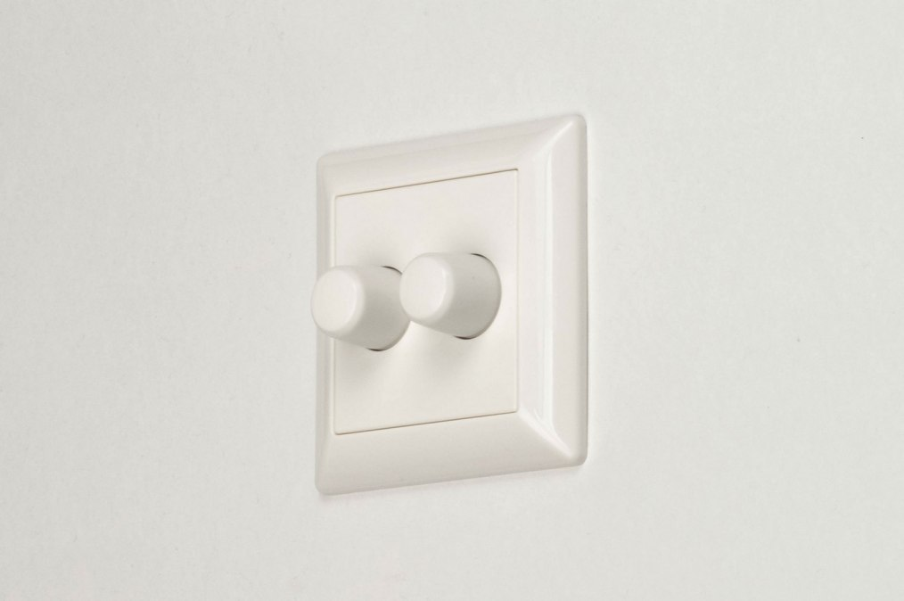 Lichtdimmer 66016: kunststof, metaal, wit, glans #0