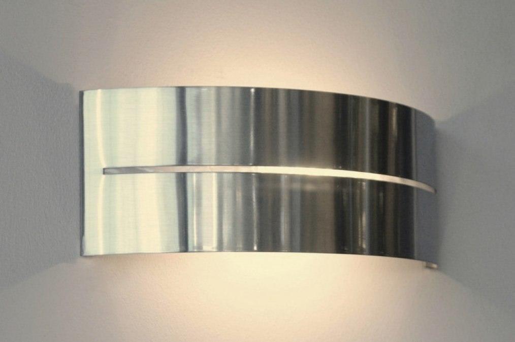 Wandlamp 67348: modern, staal rvs, metaal, langwerpig #0