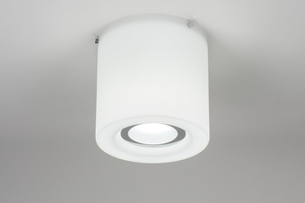 Ceiling lamp 67795: designer, modern, glass, white opal glass #0
