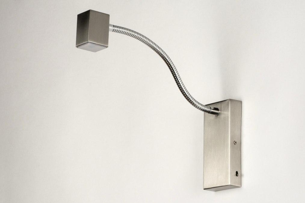 applique murale 70025 moderne acier acier poli rectangulaire. Black Bedroom Furniture Sets. Home Design Ideas