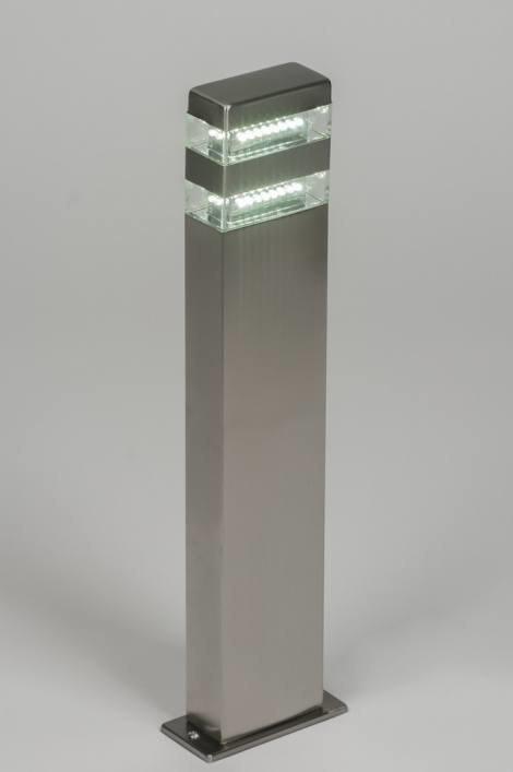 Buitenlamp 70073: modern, glas, helder glas, kunststof #0