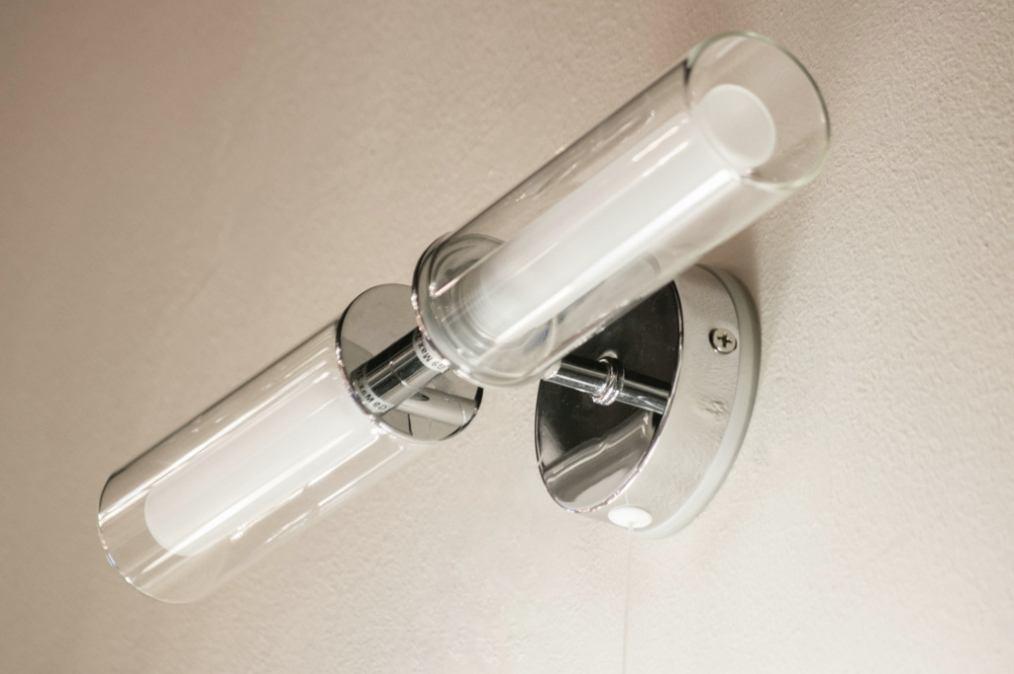 Wasserdichte Leuchte Dusche : Wandleuchte 70122: Modern, Glas, Klares Glas, Mattes Glas
