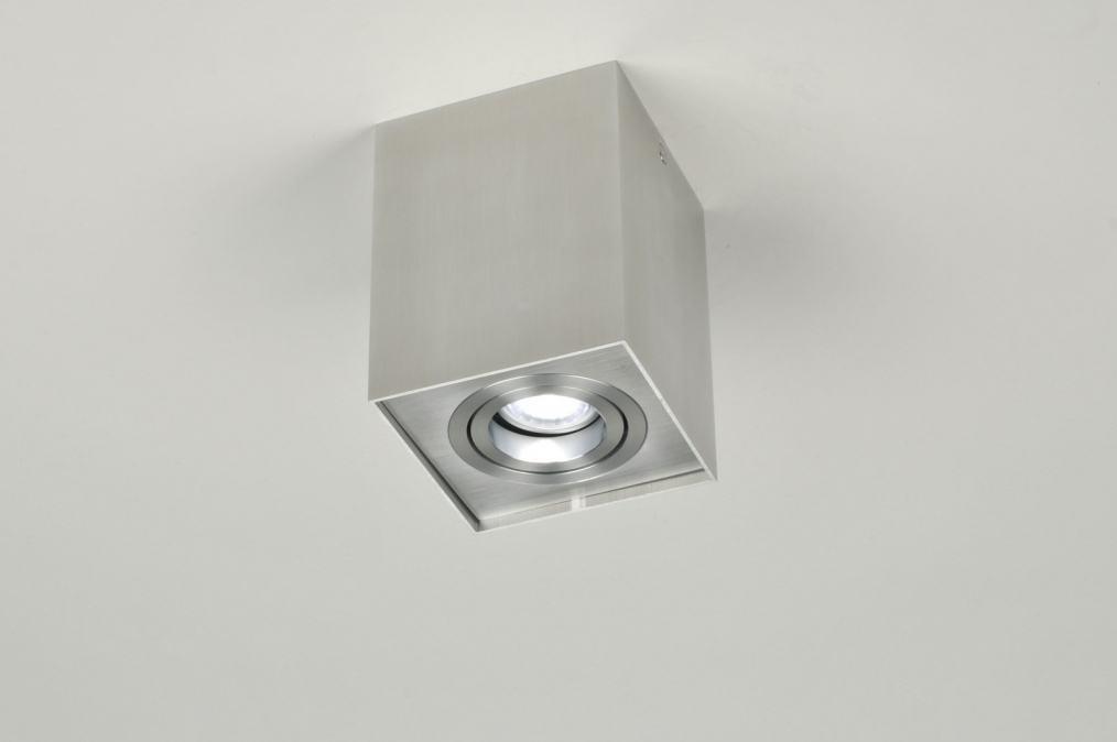 Spot 70165: modern, aluminium, geschuurd aluminium, metaal #0