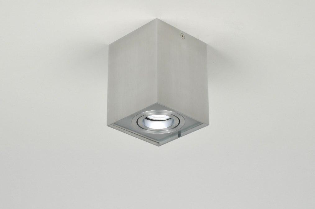 deckenleuchte 70165 modern aluminium aluminium gebuerstetes aluminium. Black Bedroom Furniture Sets. Home Design Ideas