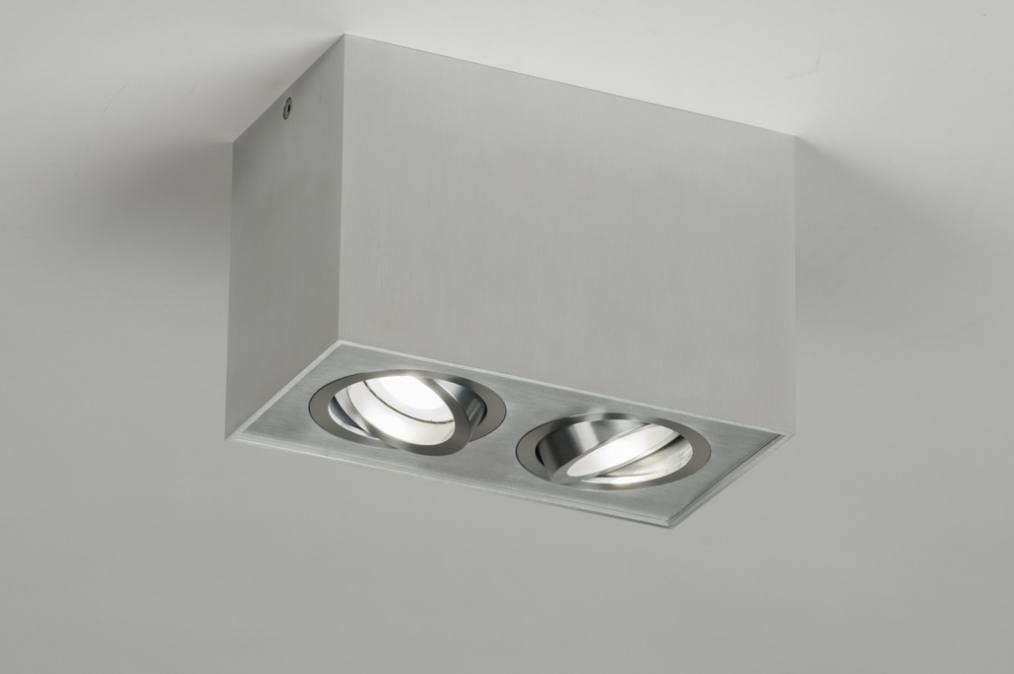 Spot 70166: modern, aluminium, geschuurd aluminium, metaal #0