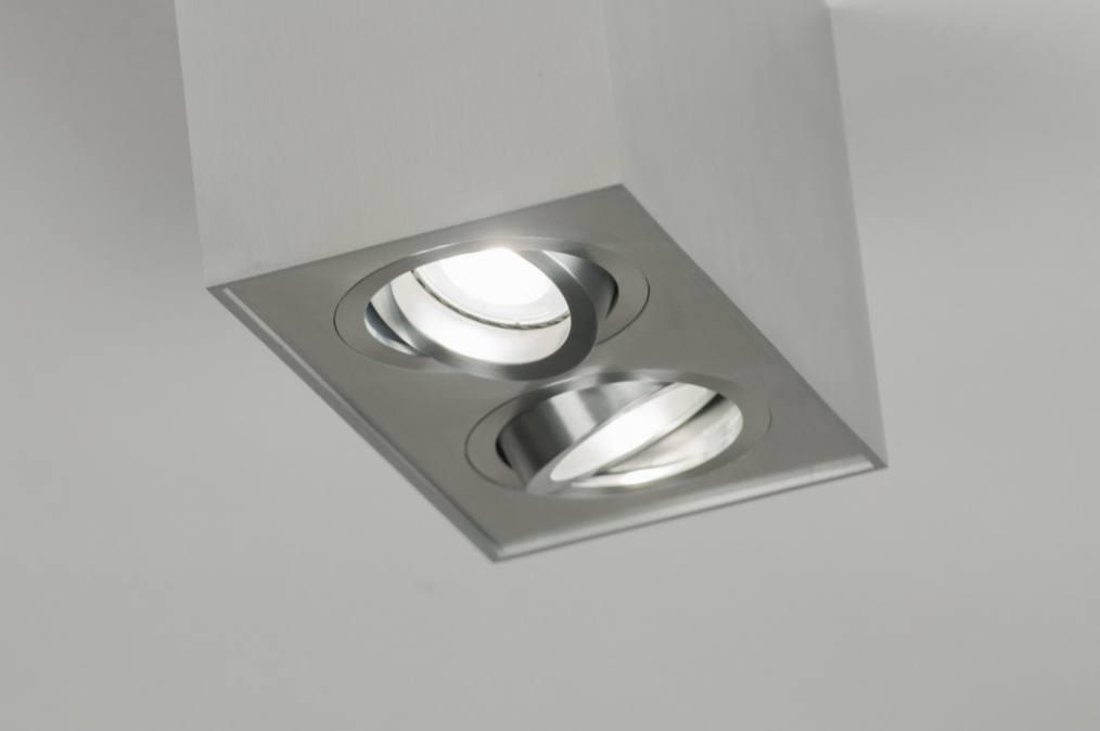 deckenleuchte 70166 modern aluminium aluminium gebuerstetes aluminium. Black Bedroom Furniture Sets. Home Design Ideas
