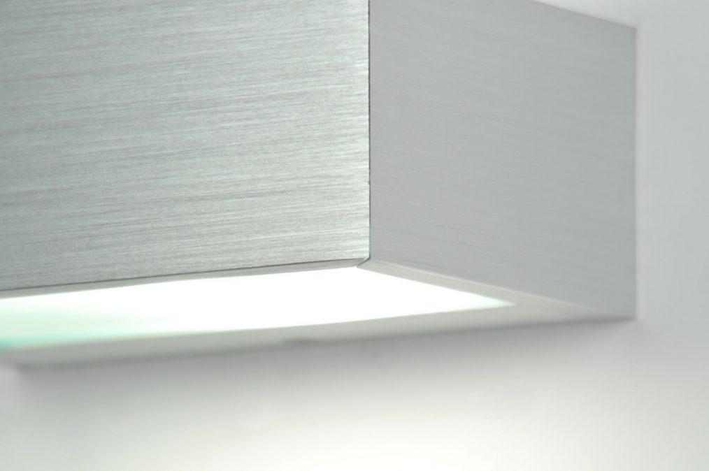 wandleuchte 70180 modern aluminium aluminium gebuerstetes aluminium. Black Bedroom Furniture Sets. Home Design Ideas
