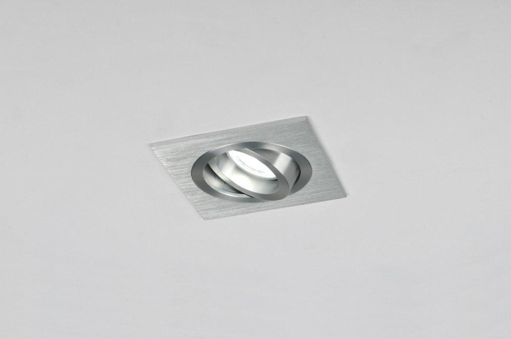 Spot encastrable 70191 moderne design aluminium aluminium for Spot encastrable plafond design