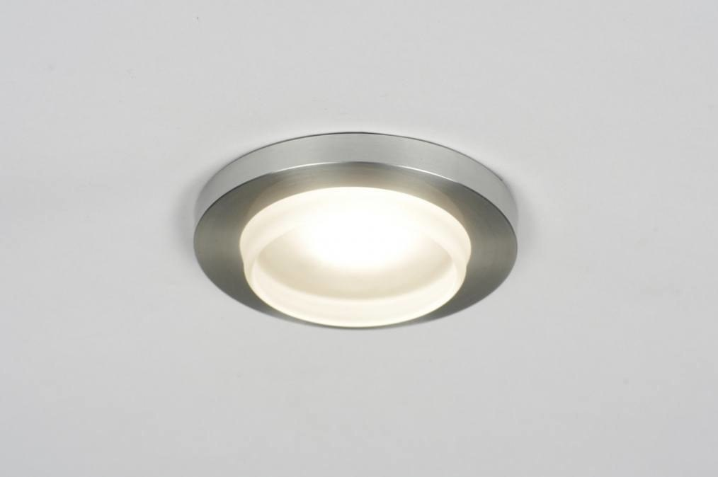Foco emportable 70202: Moderno, Aluminio cepillado, Metal, Redonda #0