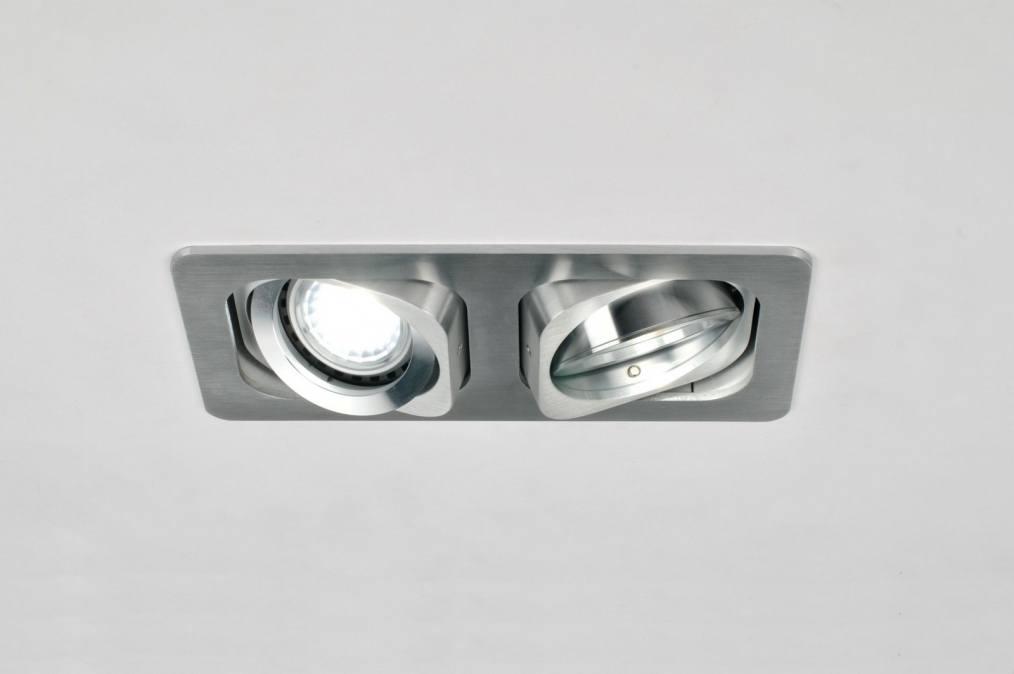 Licht Spots Inbouw : Inbouwspot design modern aluminium rechthoekig