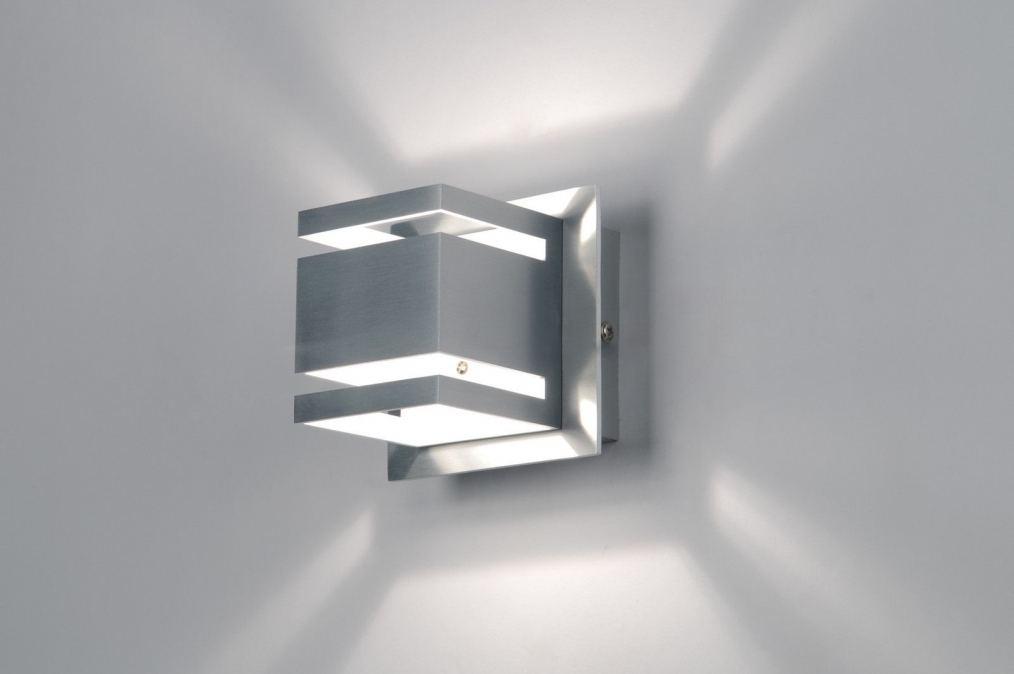 Wandlamp 70215: design, modern, aluminium, metaal #0
