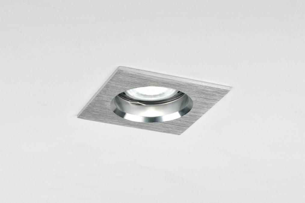 Recessed spotlight 70218: modern, aluminium, metal, square #0