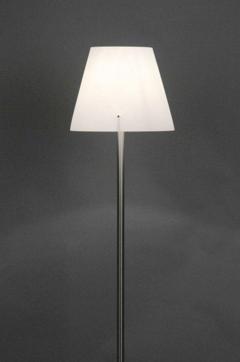 Vloerlamp 70463: modern, design, glas, wit opaalglas #0