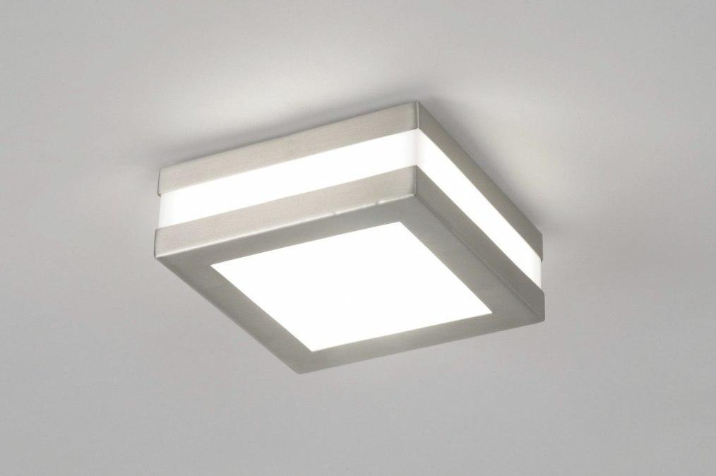 Plafondlamp 70512: modern, staal rvs, kunststof, polycarbonaat #0