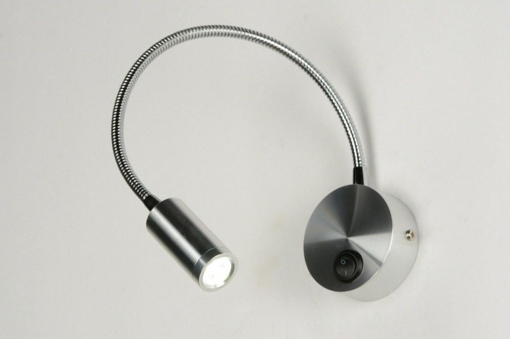Wandlamp 70556: modern, aluminium, aluminium, metaal #0