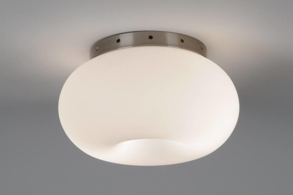 Plafondlamp 70594: modern, retro, eigentijds klassiek, glas #0