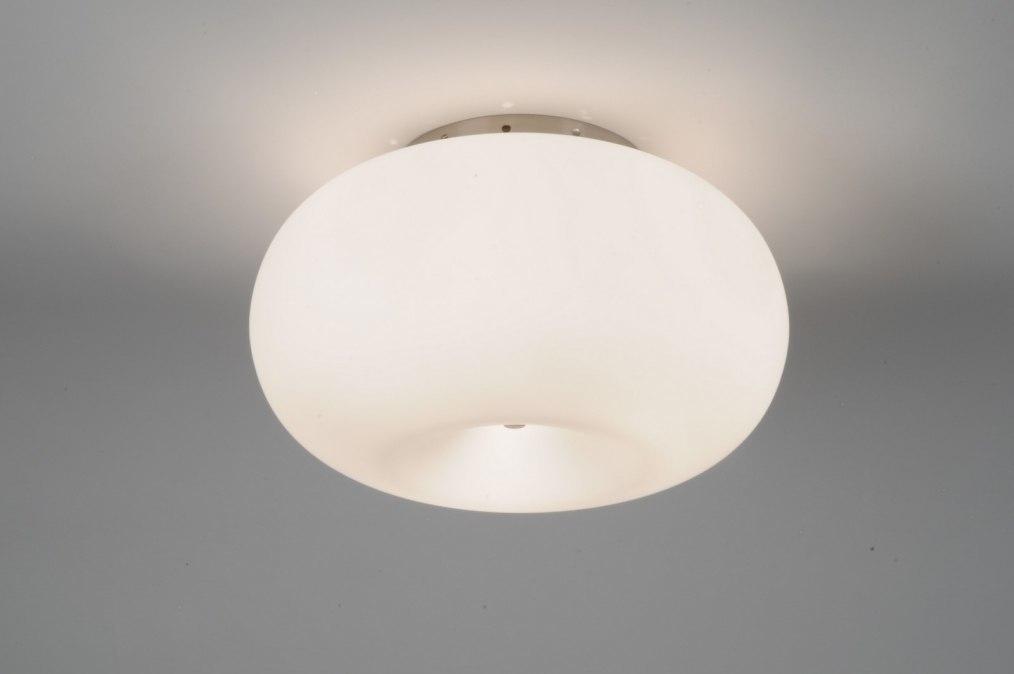 Plafondlamp 70595: modern, eigentijds klassiek, retro, glas #0