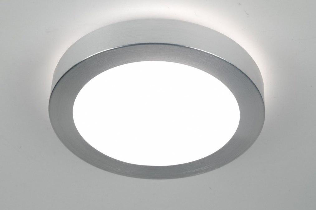 Plafondlamp 70668: modern, aluminium, geschuurd aluminium, kunststof #0