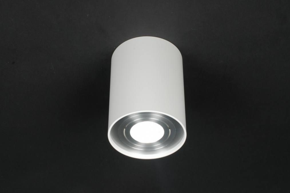 Plafondlamp 70770: modern, design, wit, mat #0