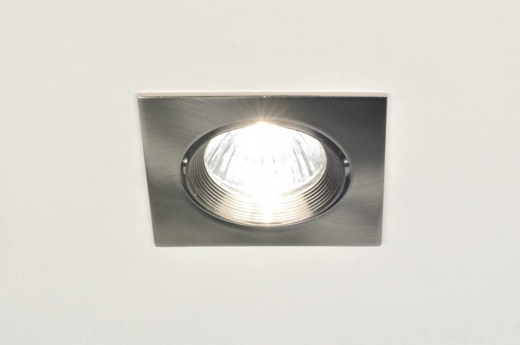 Recessed spotlight 70807: modern, stainless steel, metal, steel gray #0