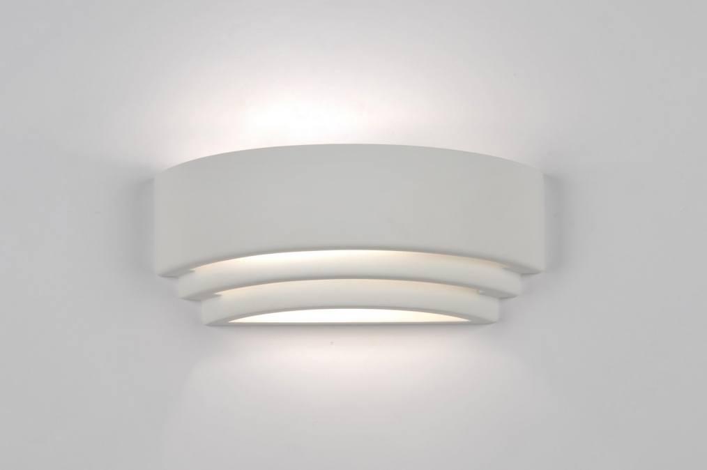 Applique Murale 70811 Moderne Blanc Ceramique Rectangulaire