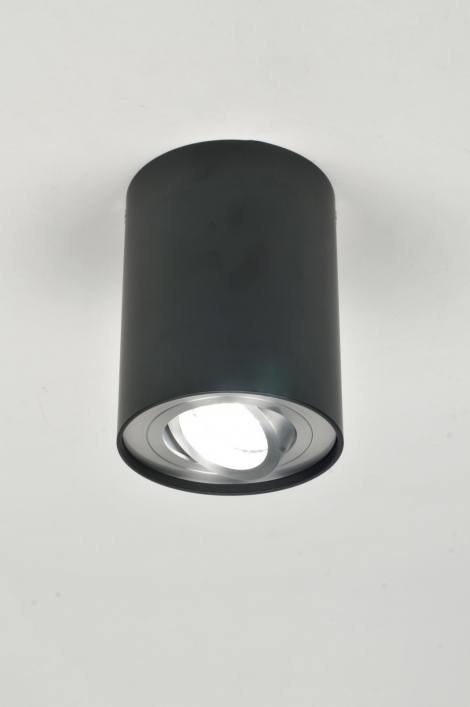 Plafondlamp 70873: modern, zwart, mat, aluminium #0
