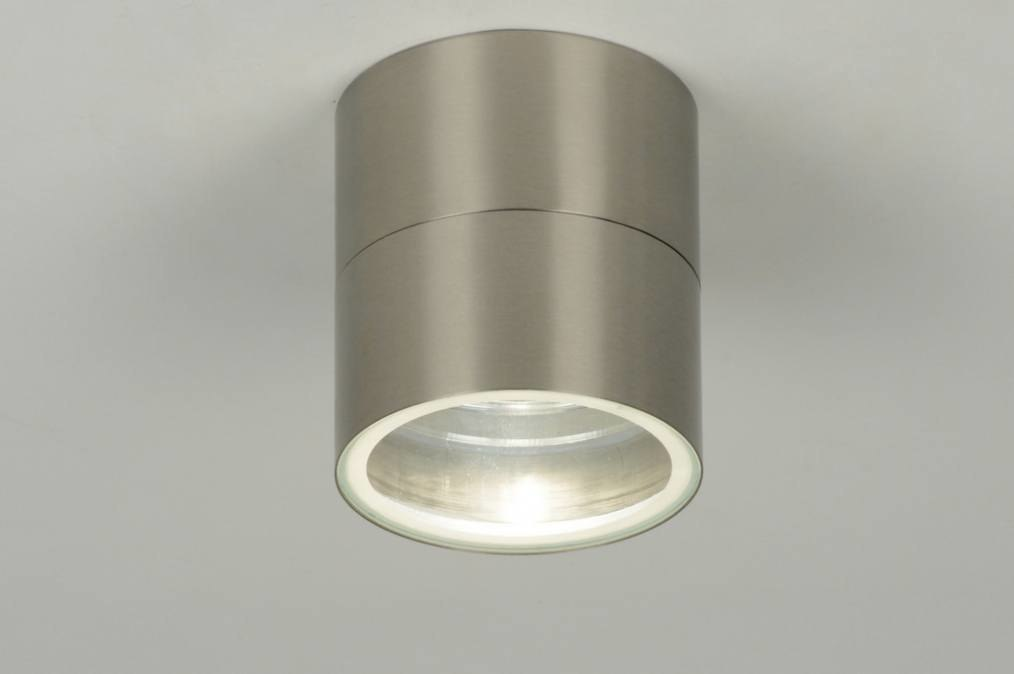 Ceiling lamp 70890: modern, stainless steel, metal, steel gray #0