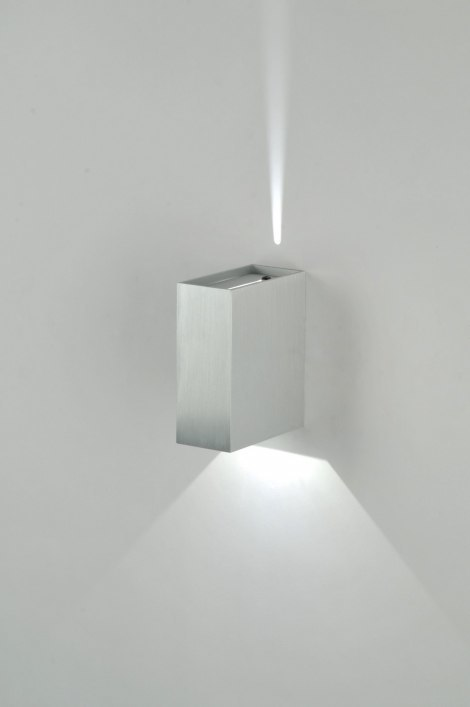 Wandlamp 70979: modern, design, geschuurd aluminium, metaal #0