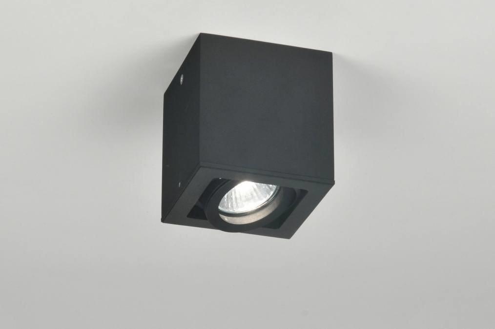 Plafondlamp 71021: modern, zwart, mat, metaal #0