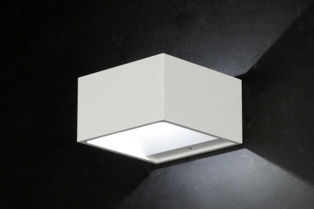 Wandlamp 71050: modern, design, wit, aluminium #0
