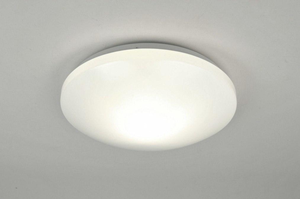 Plafondlamp 71096: modern, kunststof, polycarbonaat, wit #0