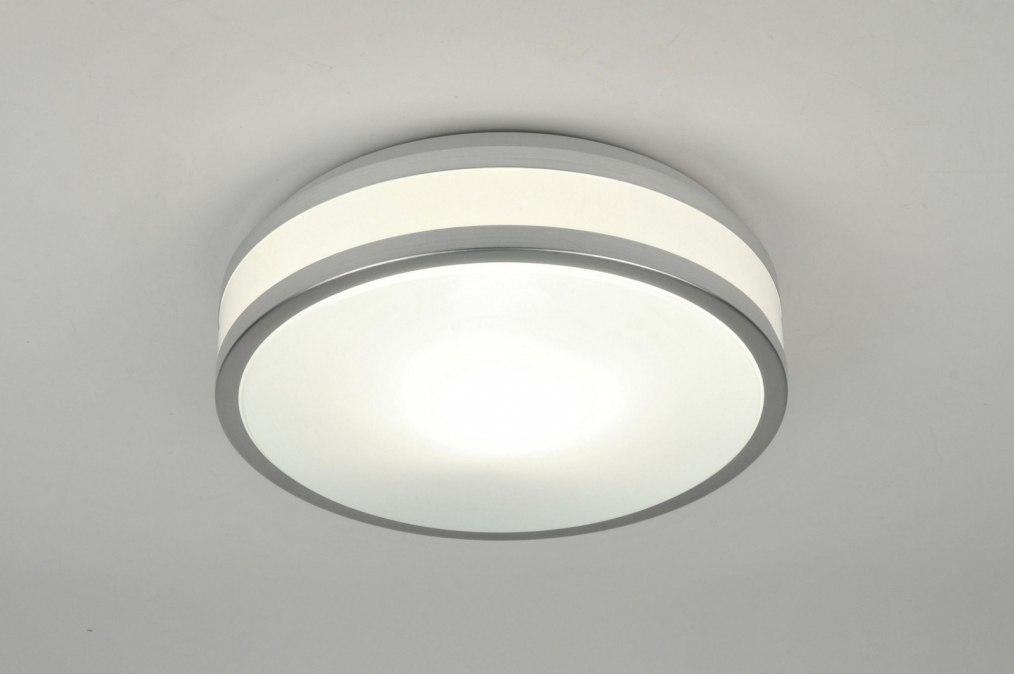 Plafondlamp 71098: modern, aluminium, wit, aluminium #0