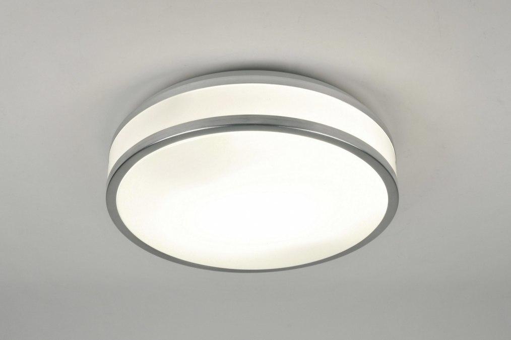 Plafondlamp 71099: modern, aluminium, kunststof, wit #0