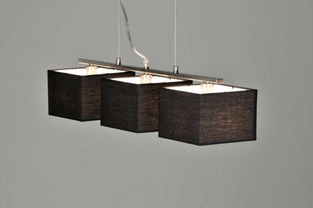 pendelleuchte 71214 modern stoff schwarz laenglich. Black Bedroom Furniture Sets. Home Design Ideas
