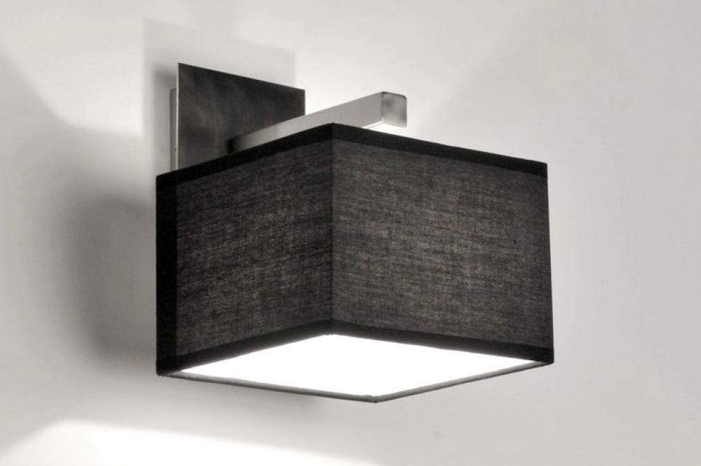 Wall lamp 71218: modern, contemporary classical, fabric, black #0