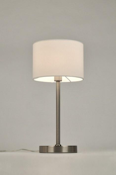 tischleuchte 71231 modern zeitgemaess klassisch laendlich rustikal weiss. Black Bedroom Furniture Sets. Home Design Ideas