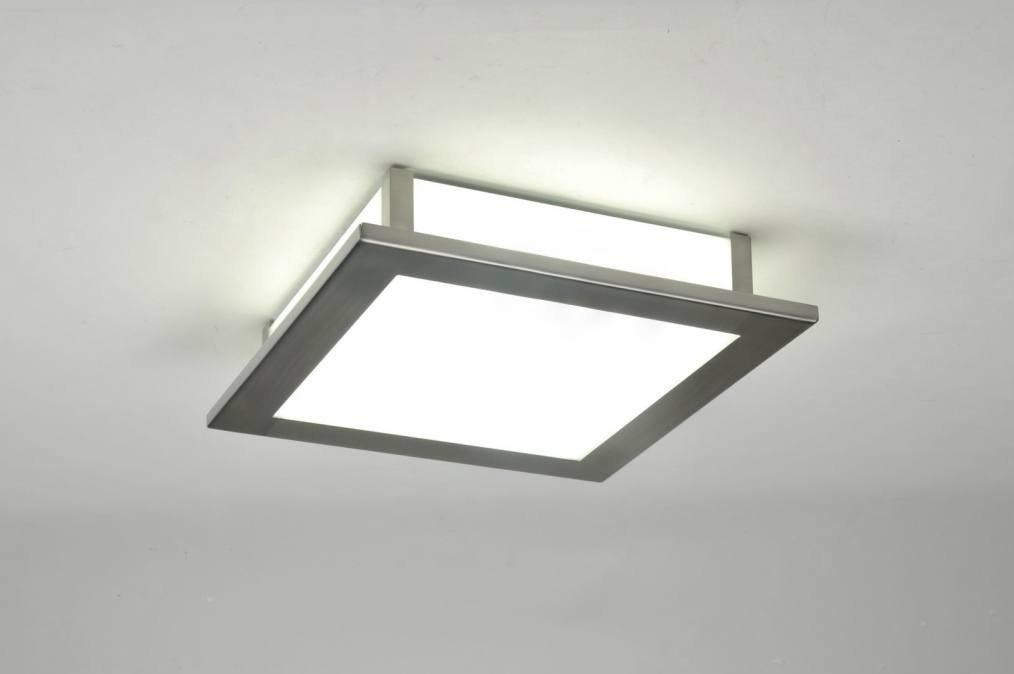 Plafondlamp 71295: modern, eigentijds klassiek, glas, wit opaalglas #0