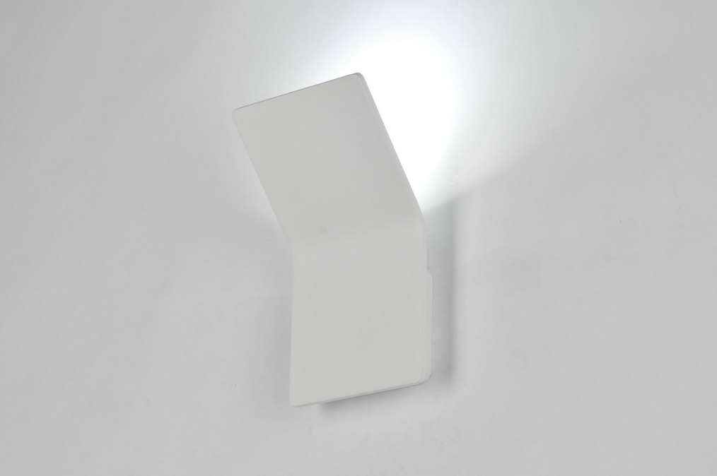 Wandlamp 71331: modern, design, wit, mat #0