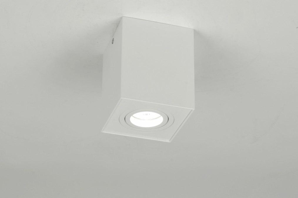 Plafondlamp 71341: modern, design, wit, mat #0