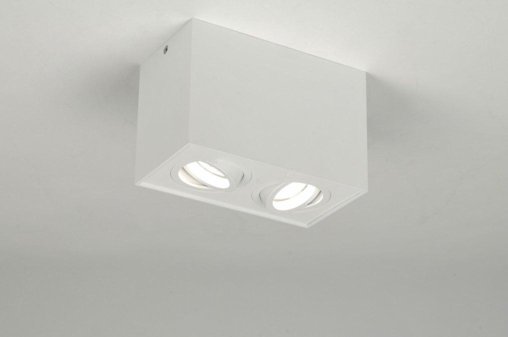 Plafondlamp 71342: modern, design, wit, mat #0
